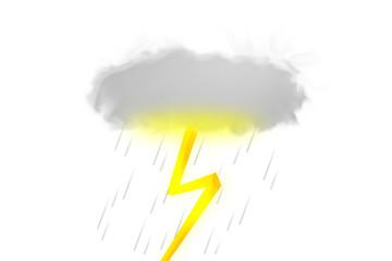 Illustration of thunderstorm. icon.  雷雨のイラスト アイコン