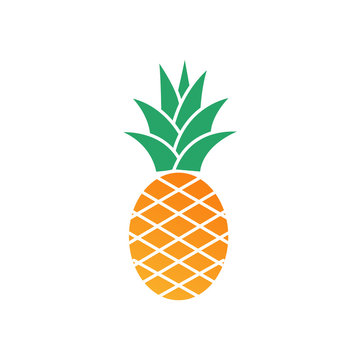 Tropic fruit Pineapple icon template color editable. Pineapple symbol vector sign isolated on white background. Simple logo vector illustration for graphic and web design.