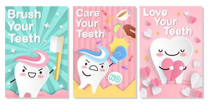 tooth with dental care card