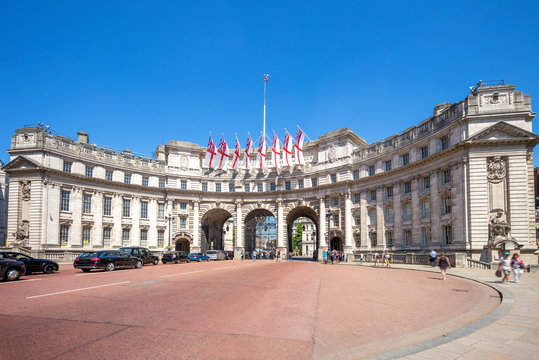 Admiralty Arch, a landmark building in London, UK
