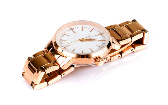 Luxury watch isolated on white background.