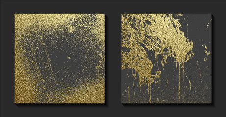 Gold grunge texture to create distressed effect. Patina scratch golden elements. Vintage abstract illustration. Bright sketch surface. Overlay distress grain graphic design.