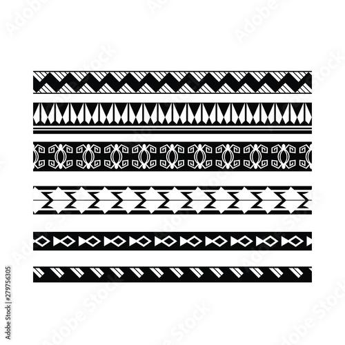 ethnic ornament tribal band, tribal pattern tattoo