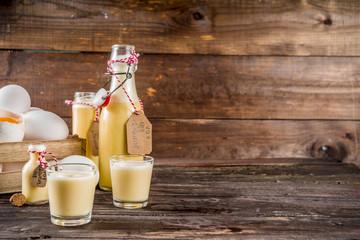 Homemade egg liquor Fototapete