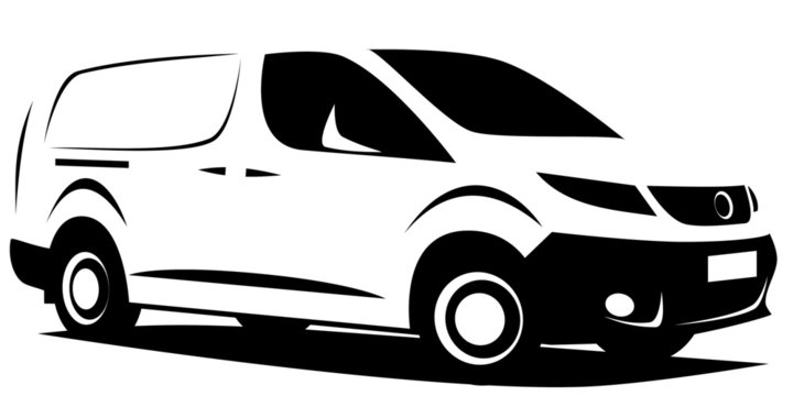 small, vector, dynamic, logo, outline, van, white, delivery, isolated, vehicle, commercial, car, background, cargo, illustration, design, transport, business, service, blank, transportation, industry,