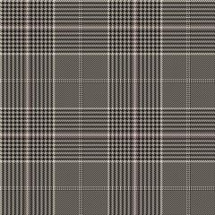 Glen plaid seamless pattern. Vector background