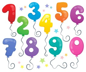 Balloon numbers theme set 2