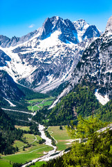Wall Mural - view from feilkopf mountain in austria