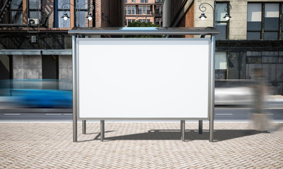 street advertising bus stop mockup