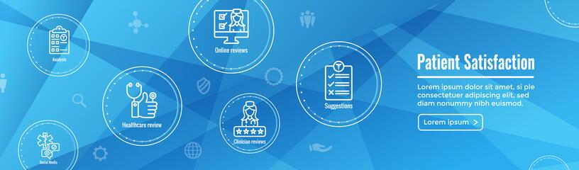 Patient Satisfaction Icon Set & Web Header Banner