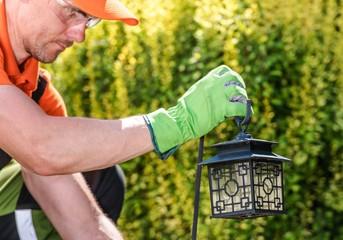 Garden Lantern Installation