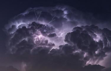 Cumulonimbus cloud from the inside