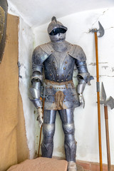 Antique medieval armor completely made of iron