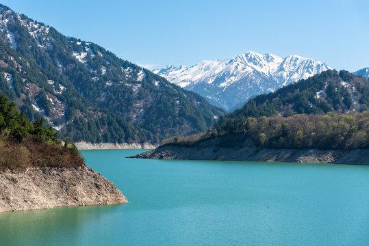 Kurobe lake at Tateyama Kurobe Alpine Route.