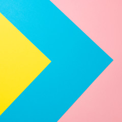Flat lay background made of pastel colorful paper. Abstract colour line. Minimal concept geometric...
