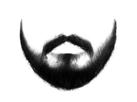 Black beard isolated on white background
