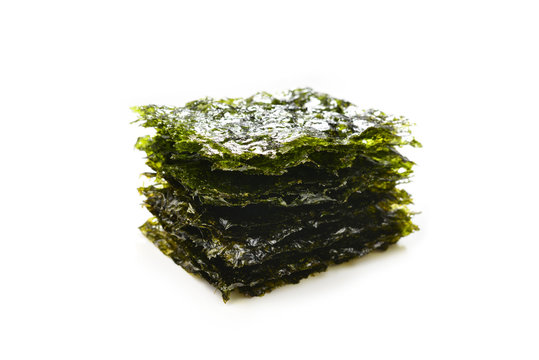 Nori seaweed isolated on white.