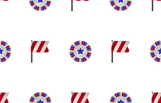 Seamless Pattern in 4th of July theme.