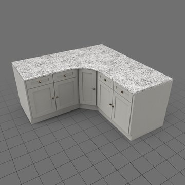 Corner kitchen countertop