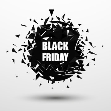 Black Friday Sale Banner. Abstract Vector Background