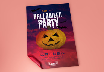 Halloween Party Poster Layout