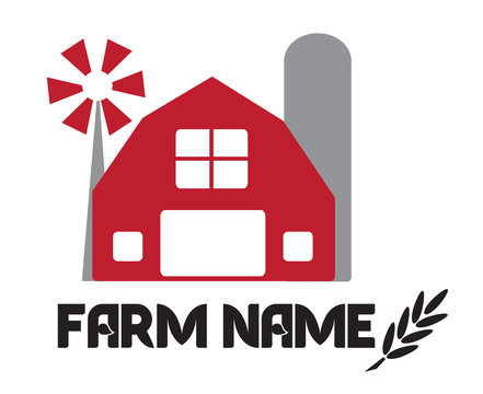 Agricultural farm industry company design simple label
