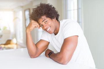 Handsome african american happy man smiling confident