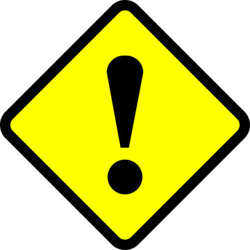 warning danger sign, rectangle and triangle frame yellow and black color background