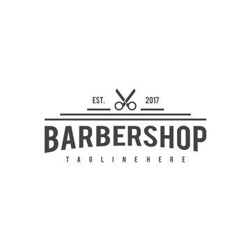 engraved hipster beard man babershop, for vintage logo, emblem and badge