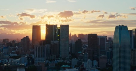 Fotomurales - Tokyo city street at sunset