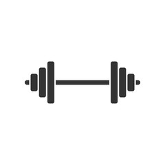 Barbel, Dumbbell  Gym Icon Logo Template Illustration Design. Vector EPS 10.