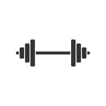Barbel, Dumbbell  Gym Icon Logo Template Illustration Design. Vector EPS 10.
