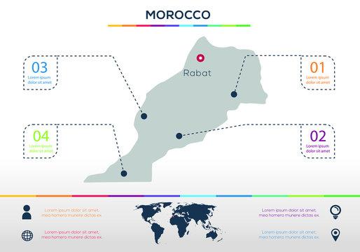 Morocco-info graphics elements Vector illustration