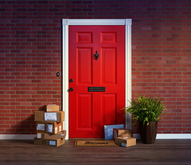 Purchased online, delivered to your front door, stacks of boxes; easy target for theft