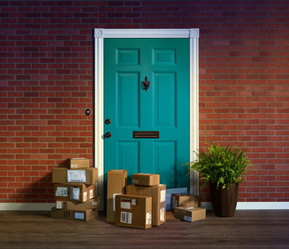 Online shopping, boxes delivered to your front door. Easy to steal when nobody is home