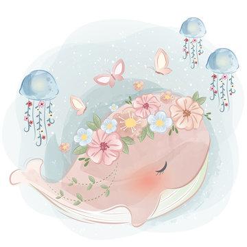 Cute Spring Whale