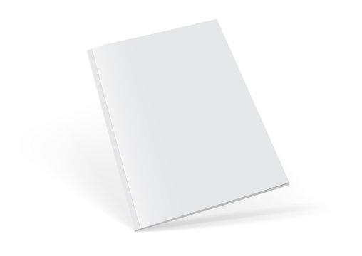 white magazine on white background mock up