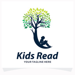Kids Read Logo Design Template