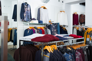 Interior of clothing shop