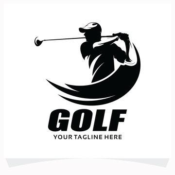 Golf Sport Logo Design Template