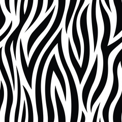 Zebra Animal Print Seamless Pattern