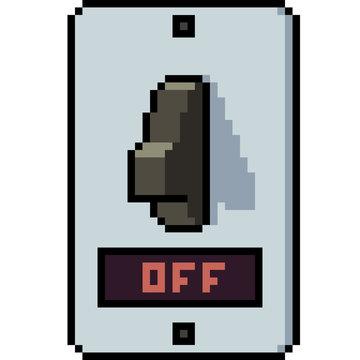vector pixel art switch off