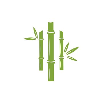 Bamboo vector icon illustration