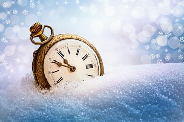 New year vintage clock.