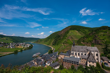 View of Beilstein from the tower of the castle Metternich