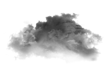 Photo sur Plexiglas Fumee Black smoke on a white background