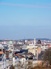 Cityscape seen from Mont des Arts, Brussels, Belgium