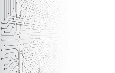 Futuristic vector illustration. High-tech technology abstract background. Abstract 3D circuit board.