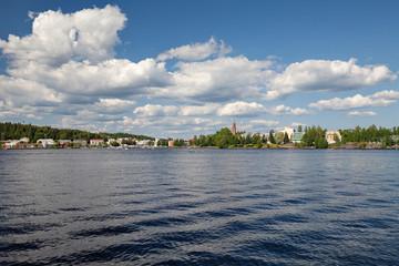 Savonlinna, Southern Savonia, Finland - view from Saimaa lake, summer