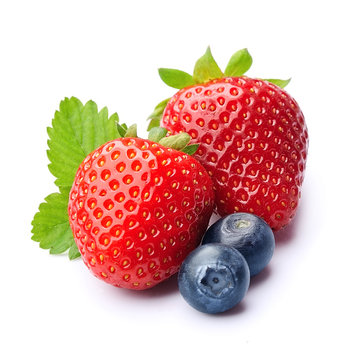 Sweet strawberry and blueberries